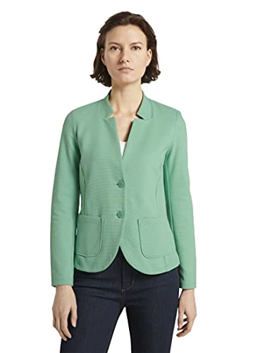 Tom Tailor Ottoman Blazer, 25986 Soft Leaf Green, XL para Mujer