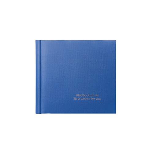 Fotoalbum 100 piezas intersticiales de alta calidad de 6 pulgadas, para la familia del bebé puede escribir mensajes, manual de registro (color: azul)