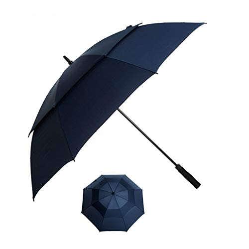 Taschenschirm Automatischer Offener Golfschirm, 51-Zoll-Übergrößen-Doppel-Überdachung Winddicht Wasserdichte Große Stock-Regenschirme, Sonnenschutz Für Männer Frauen ( Color : Blue , Size : 102cm )