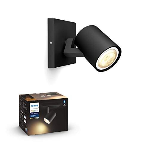 Philips Hue White Amb. LED 1-er Spotleuchte Runner, schwarz, dimmbar, alle Weißschattierungen, steuerbar via App, kompatibel mit Amazon Alexa (Echo, Echo Dot), 915005916001