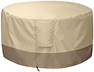 Fire Pit Cover Round-210D Oxford Cloth Heavy Duty Patio Outdoor Fire Pit Table Cover Round Waterproof Fits for 34/35/36 In...