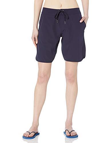 Nautica Corto elástico estándar sólido de 9 pulgadas para mujer con cordón ajustable en la cintura, Mar profundo, Medium