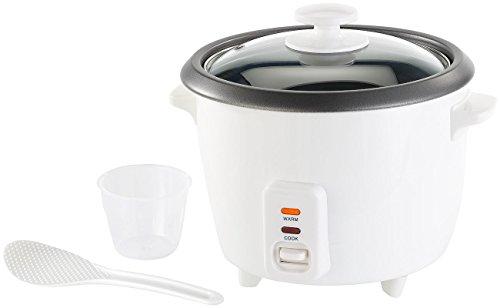 Rosenstein & Söhne Rice Cooker: Reiskocher mit Warmhaltefunktion, 400 Watt, 1 Liter Fassungsvermögen (Reiskocher klein)