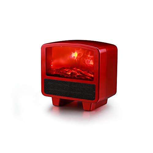 Aly Elektrokamin Eckkamin Elektrisch Mit Heizung 2 Heizstufen - Flammeneffekt Separat Schaltbar - Inklusive Fernbedienung,Red