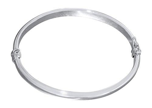 Hobra-Gold Ovaler glatter Armreif Silber 925 Silberreif aufklappbar Armspange Armband