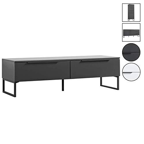 mokebo® TV Board 'Der Tiefergelegte', minimalistischer Fernsehtisch & Lowboard, Made in Germany, MDF in Anthrazit -21