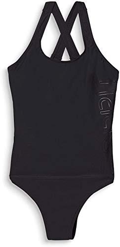 ESPRIT Damen Ocean Beach AY Logo Swimsuit Badeanzug, Schwarz (Black 001), Herstellergröße: 42 C