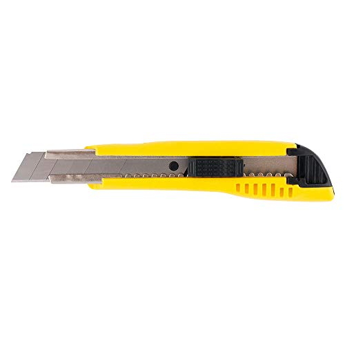 D.RECT 2055 Cúter | cuchilla de 18 mm | cúter con guía de acero inoxidable | con auto-lock hoja