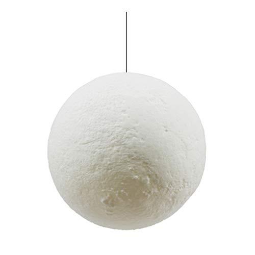 SOLUSTRE Lámpara de techo con forma de bola de luna, creativa, moderna, decorativa, con impresión 3D, para casa, restaurante, bar, cafetería, (13 cm de madera + cuerda para colgar)