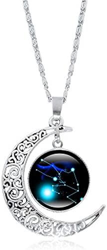 Ghlevo 12 Constelación Collar de Luna, constelación Creativa Collar de Luna Regalos para Mamá Presente Mujeres Chicas (Color : Taurus)