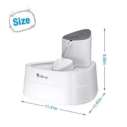 isYoung – Fontana ad acqua per gatti, 3 L, grande capacità, erogatore automatico e silenzioso, per gatti e cani