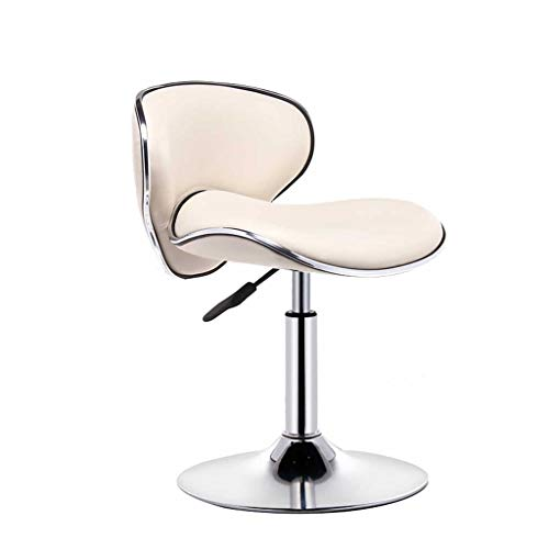 Chair Bar Stools Set with Backrest Leatherette Exterior | Height Adjustable Swivel Gas Lift | for Bar, Counter, Kitchen Cafe teahouse and Home (Color : Beige)