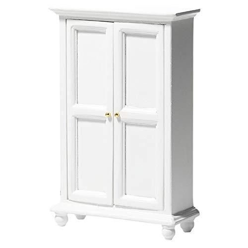 ミニチュア家具 1/12 ワードローブ 戸棚 人形家具 スケール 木製 ドールハウス用 ミニチュア 装飾 (画像色)