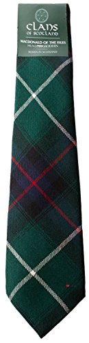 I Luv Ltd MacDonald of the Isles Hunting Clan 100% Wool Scottish Tartan Tie
