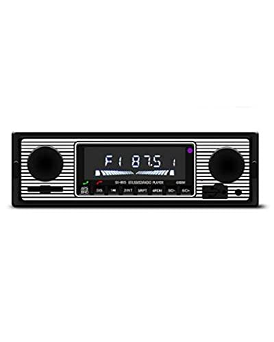 Autoradio 12V Bluetooth Vintage Autoradio Ricevitore Stereo FM SD AUX Uscita Audio RCA Classica Multifunzione Lettore MP3 per Auto retrò