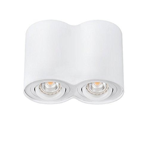2 Fois deckenspotleuchte bORD dLP - 250–w kanlux massif plafonnier aluminium blanc gU10 pour ampoules meuble de classe énergétique a à e