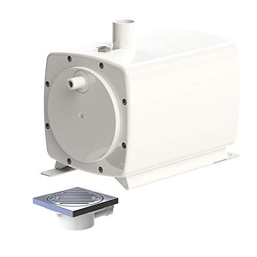 SFA 0050P Hebeanlage SANIFLOOR+ 1 (Saugpumpe + Siphon) - Leistung 30 l/min, Förderhöhe 3 m, mit Ablauf 220 V, weiß