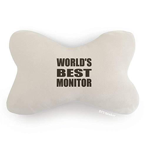 DIYthinker World's Best Monitor Graduation Season Car Trim Neck Decoration Pillow Headrest Cushion Pad