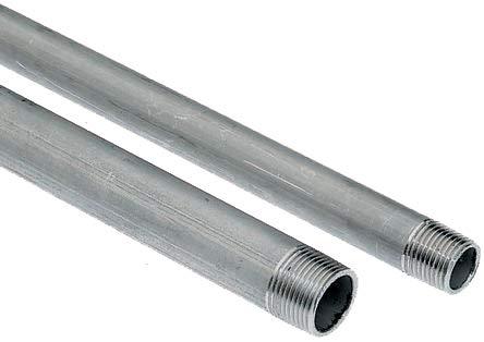 26.4mm Edelstahl Gewinderohr, Galvanisiert, mit BSPT3/4 Gewinde, Länge 2m