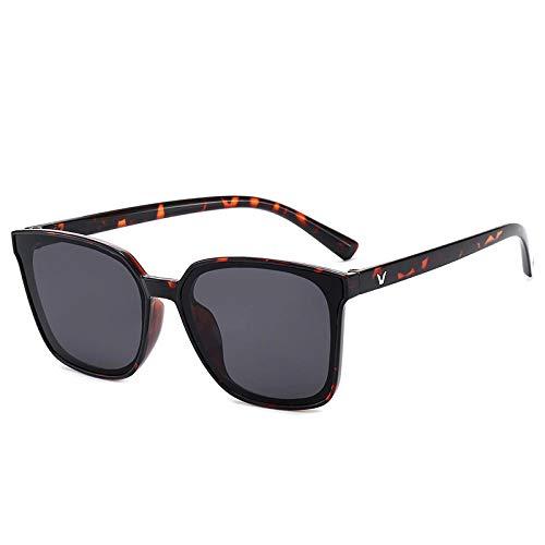 FJCY Gafas de Sol cuadradas Retro de Gran tamaño para Mujer Gafas de Sol con Montura Negra Retro de Lujo para Mujer Uv400-Bj5221-C7