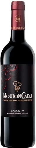 Mouton Cadet Rouge - Baron Philippe de Rothschild – Trockener Rotwein aus Bordeaux (1 x 0,75 l)