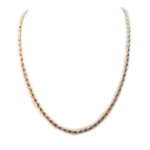 Gioielleria Damiata - Collana Girocollo Uomo in Oro Giallo e Bianco 18 kt carati
