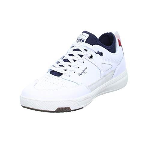 Pepe Jeans London Herren Slate PRO 01 Sneaker, Weiß (White 800), 43 EU
