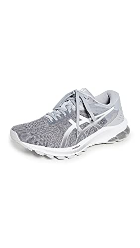 ASICS Women's GT-1000 10 Running Shoes, 8, Piedmont Grey/Pure Silver