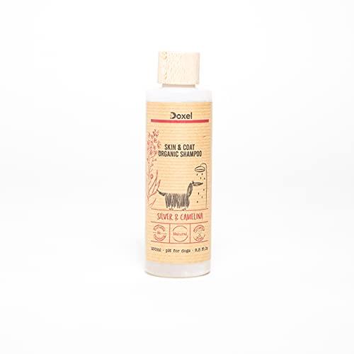 Doxel Champú Perros Skin & Coat Natural, Ingredientes orgánicos, Especial Piel y Pelo, Vegano, Hipoalergénico, Todas Las Razas y Edades, 250 ml