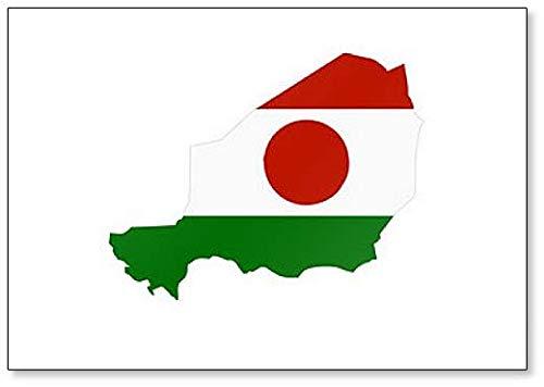 Kühlschrankmagnet, Motiv Karte & Flagge von Niger, 1 Stück