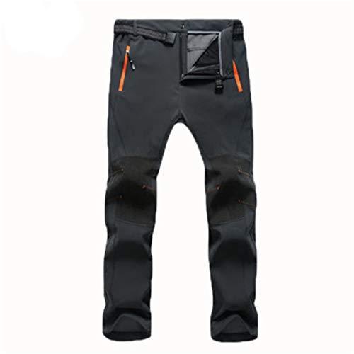 Drying Den Hommes Femmes Hiver Plus La Taille Softshell Pantalon Polaire Thermique Pantalon De Sport Randonnée Pantalon De Camping en Plein Air Ski Men Gray Asian Size M