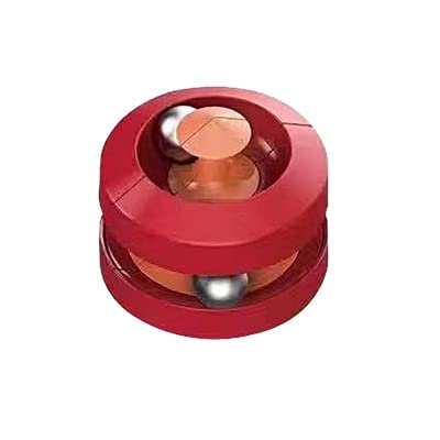 Bead Orbit, Orbit Ball Toy, Pinball Gyro Cube, Fidget Cubes Tops Spinning Toy, Decompression Toy, Stress Relief Gift, Toys for The Office, Intellectual Development Toy, Puzzle Game(Red) -  LZY-001