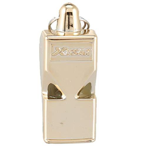 Générique Sifflets en Métal, Sifflets de Signalisation d'urgence Haute Voix pour Arbitres Entraîneurs, Randonneurs, Sauveteur - d'or, 5 x 2 x 2 cm