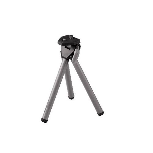 Hama Mini Stativ II Universal Negro, Plata tripode - Trípode (Universal, 3 Pata(s), 11,5 cm, Negro, Plata, 110 g)