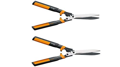 Great Deal! Fiskars Garden 392861-1002 Powergear2 Hedge Shears, 23, Black/Orange (Black/Orange 2-Pa...