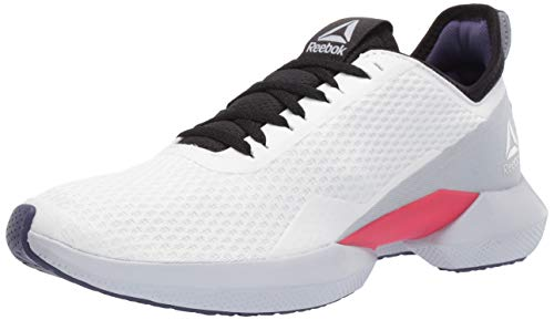 Reebok Women's Interrupted Sole Running Shoe White/Black/Grey 9.5 M US