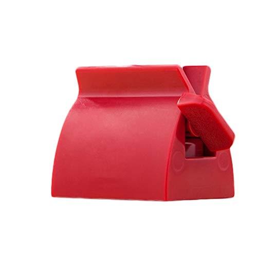 Dispenser Facial Limpiadora clips Exprimidor manual de dispositivos Lazy pasta de dientes exprimidor de pasta de dientes Prensa multifuncional de pasta de dientes Fácil de usar (Color : Red)