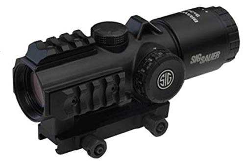 Sig Sauer SIG-SOB53102 BRAVO5 5x30mm Battle Sight 300 Blackout Horseshoe Dot, Black
