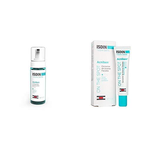ISDIN PACK Acniben para pieles acneicas: Limpiador Purificante Espuma 150 ml + Teen Skin Corrector De Granos Faciales, 15 ml.