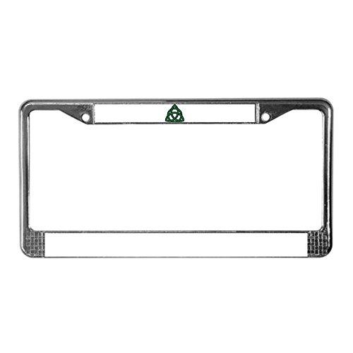 CafePress Green Celtic Knot License Plate Frame Chrome License Plate Frame, License Tag Holder
