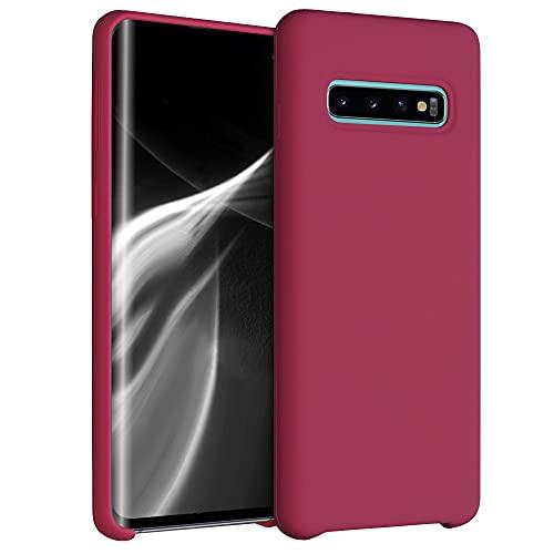 kwmobile Carcasa Compatible con Samsung Galaxy S10 - Funda de Silicona para móvil - Cover Trasero en Fucsia Mate