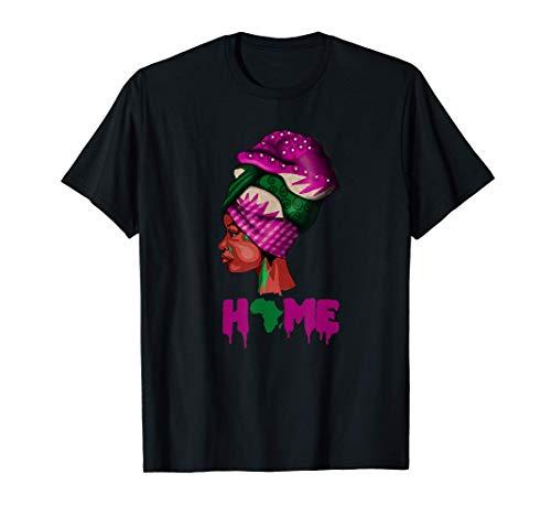 Afrikanische Frau, Home, Afrika Karte, schwarzer Stolz T-Shirt