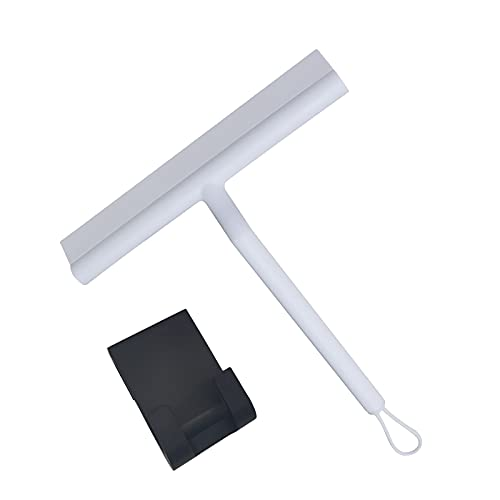 Sostenedor de la limpieza del espejo de la ducha de la espátula del limpiador de la espátula del vidrio de la baldosa de la ventana del silicón, FZA620