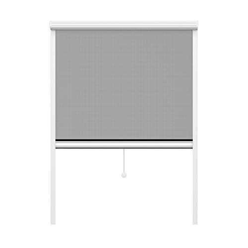 jarolift Insektenschutzrollo auf Maß für Fenster, 1201-1300 mm x 1101-1200 mm (B x H)