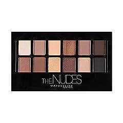 Idea Regalo - Maybelline New York Palette Ombretti The Nudes, 12 Colori Sulle Sfumature del Nudo, Finish Matte, Satinato e Perlato