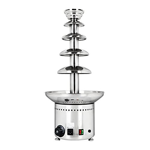 XINKO Fuente de Fondue de Chocolate Comercial, máquina de inmersión de fusión de Chocolate Negro Grande de 5 Niveles, Queso Nacho, Salsa, Salsa BBQ, Rancho, Bodas, Fiestas, Eventos