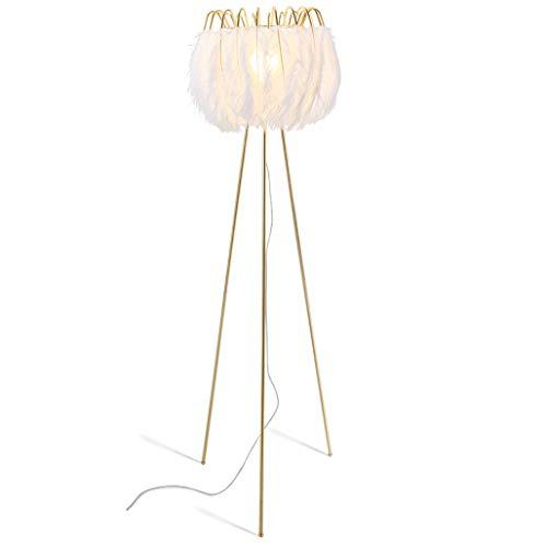 lampadaire Lampadaire, Lampadaire En Plume, Blanc, Plume De Haute Qualité, Salon Salle À Manger