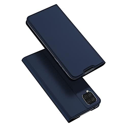 Kompatibel mit Samsung Galaxy A22 4G Hülle Leder, Handyhülle Für Samsung A22 4G Flip Tasche, 360 Grad Wallet Hülle Magnetverschluss Protective Mit Kartenf (Blau, Samsung A22 4G)