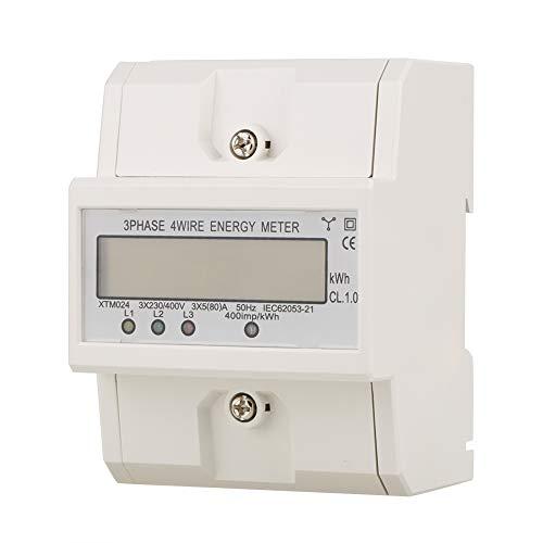 Contador de energía digital trifásico con contador eléctrico digital de...