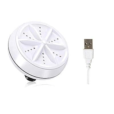 Fuyamp Portable Rotating Ultrasonic Turbine Laundry Washer USB Mini Washing Machine(TYPE1)